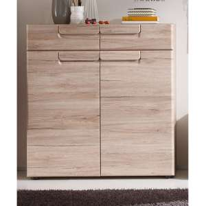 Melay Wooden Shoe Storage Cabinet In San Remo Light Oak