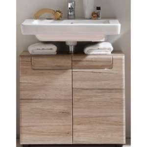 Melay Wooden Vanity Unit In San Remo Oak