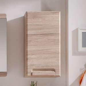 Melay Wooden Wall Bathroom Storage Cabinet In San Remo Oak
