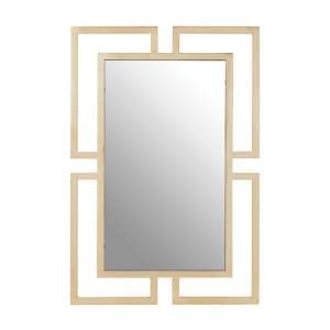 Meleph Modern Wall Mirror With Gold Stainless Steel Frame