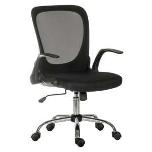 Mellen Mesh Executive Office Chair In Black With Chrome Base