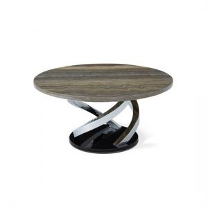 Melrose Coffee Table In Marble Effect Top With Chrome Base_2