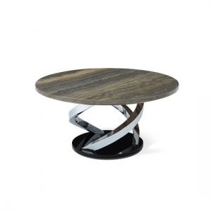 Melrose Coffee Table In Marble Effect Top With Chrome Base_3