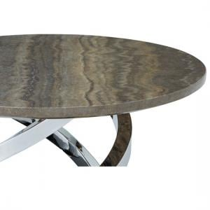 Melrose Coffee Table In Marble Effect Top With Chrome Base_6