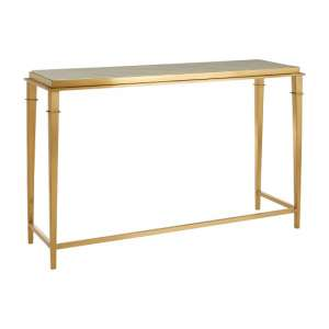 Melville Marble Console Table Rectangular In White And Gold Legs
