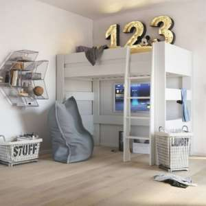 Memphis Wooden High Sleeper Childern Bed In White