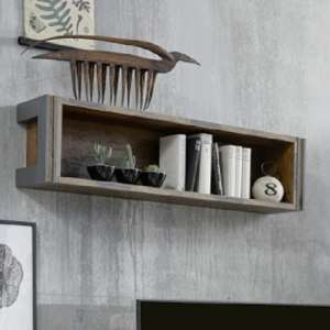 Merano Wooden Wall Mount Display Shelf In Old Wood