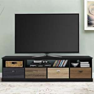 Mercer Wooden Large TV Stand In Black