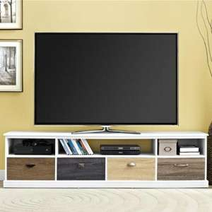 Mercer Wooden Large TV Stand In White