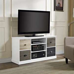 Mercer Wooden Small TV Stand In White