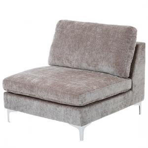 Meriva Modern Bedroom Chair In Grey With Gold Stainless Legs