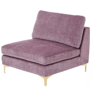 Meriva Modern Bedroom Chair In Plum With Gold Stainless Legs