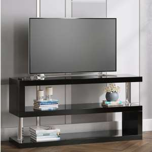 Miami TV Stand In High Gloss Black