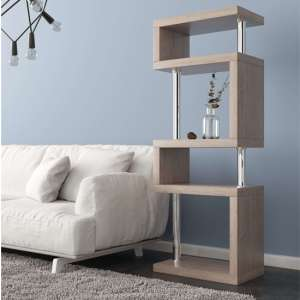 Miami Wooden Slim Shelving Unit In Ash Wood