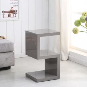 Miami Side Table In Stone High Gloss With S Shape Design_2