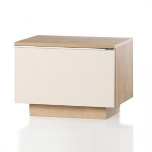 Michigan Storage Cabinet In Cream And Oak With Flap Door