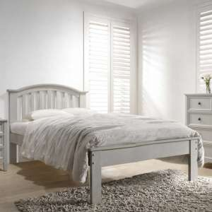 Mila Curved Wooden King Size Bed In Clay