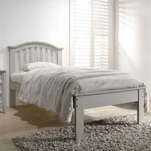 Mila Curved Wooden Single Bed In Clay