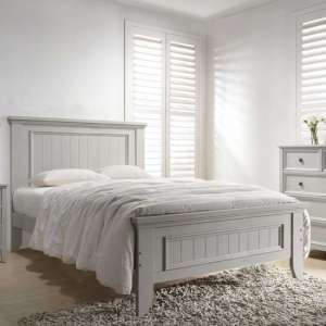 Mila Panelled Wooden King Size Bed In Clay