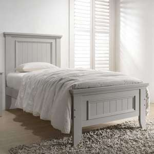 Mila Panelled Wooden Single Bed In Clay
