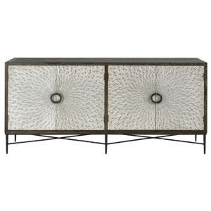 Jabbah Wooden Sideboard In Grey With 4 Doors