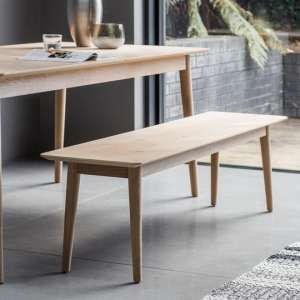 Milano Wooden Dining Bench In Matt Lacquer
