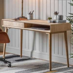 Milano Wooden 1 Drawer Laptop Desk In Natural