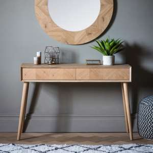 Milano Wooden Console Table With 2 Drawers