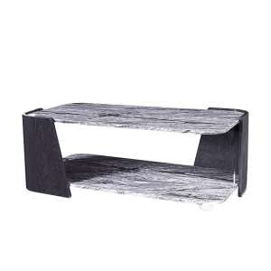 Miley Coffee Table In Slate Grey And Marble Effect High Gloss