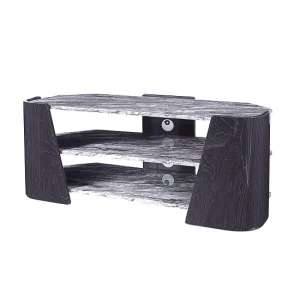 Miley TV Stand In Slate Grey And Marble Effect High Gloss