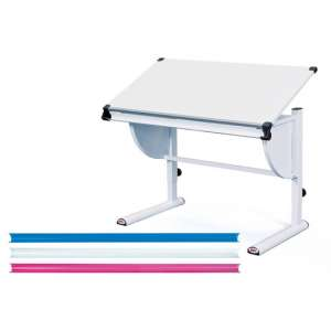 Milo Adjustable 3 In 1 Childrens Writing Desk In White