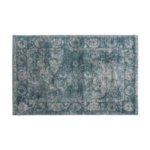 Minott Extra Large Fabric Upholstered Rug In Dark Teal