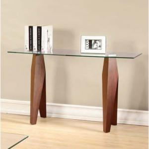 Mission Clear Glass Console Table