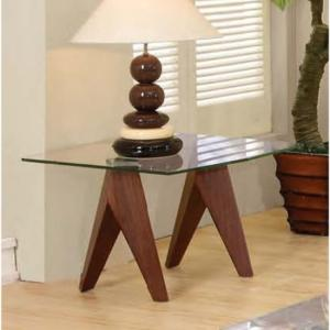 Mission Clear Glass Lamp Table