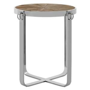 Mitrex Wooden Side Table In Natural With Polished Legs