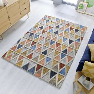 Moda Moretz Multi Color Wool Rug