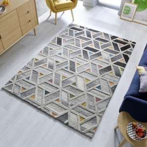 Moda River Multi Color Wool Rug