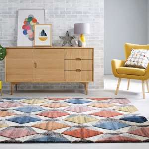 Moda Yara Multi Color Wool Rug