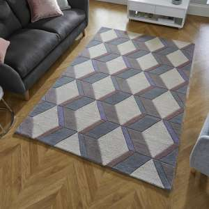 Moderno Brent Natural Finish Wool Rug