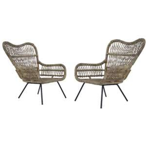 Kalausi Kubu Rattan Chair In Pair