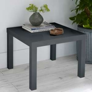 Monroe Curio Wooden Small Dining Table In Charcoal