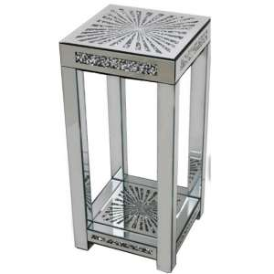 Montrez Mirrored Sunburst Large Side Table
