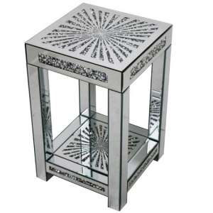 Montrez Mirrored Sunburst Small Side Table