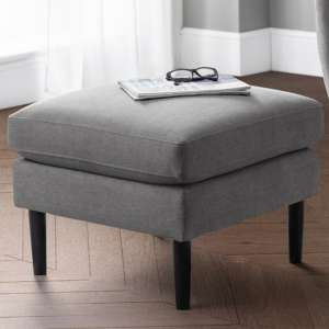 Monza Linen Upholstered Ottoman In Grey