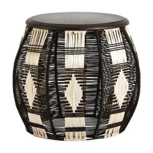 Morgan Stylish Stool In Black And Silver