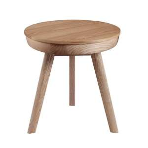 Morvik Wooden Lamp Table Round In Ash