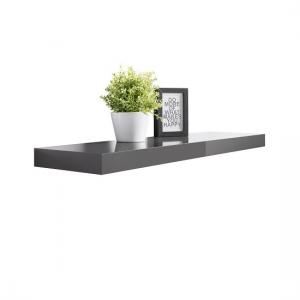 Mosby Floating Wall Shelf In High Gloss Grey