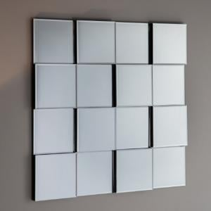 Motion Wall Mirror Square In Silver