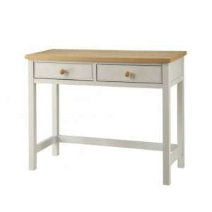 Movada Wooden Dresing Table In Dove Grey With 2 Drawers