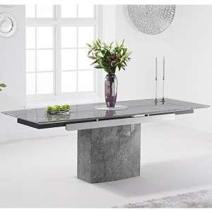 Molarity Marble Extending Dining Table In Grey